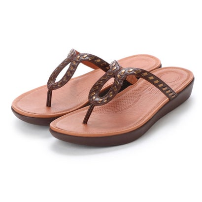 フィットフロップ fitflop STRATA TOE-THONG SANDALS - WHIPSTITCH LEATHER (Espresso)