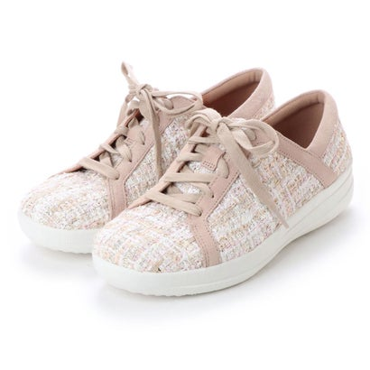 フィットフロップ fitflop F-SPORTY II LACE UP SNEAKERS - LUXE-TWEED (Dusky Pink)
