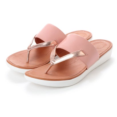 フィットフロップ fitflop DELTA TOE-THONG SANDALS - LEATHER / MIRROR (Dusky Pink/Rose Gold Mirror)