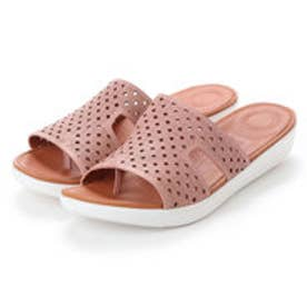 フィットフロップ FitFlop H-BAR SLIDE SANDALS - LATTICED LEATHER (Dusky Pink)