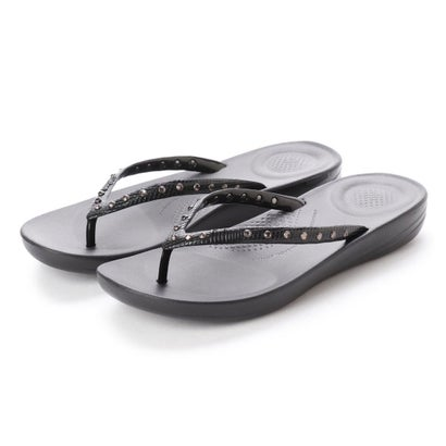 フィットフロップ fitflop IQUSHION ERGONOMIC FLIP FLOPS - CRYSTAL (Black)