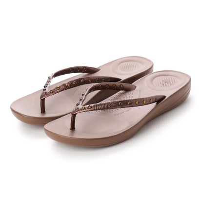フィットフロップ fitflop IQUSHION ERGONOMIC FLIP FLOPS - CRYSTAL (Bronze)