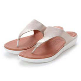 フィットフロップ fitflop BANDA II TOE-THONG SANDALS - METALLIC LEATHER (Metallic Silver)