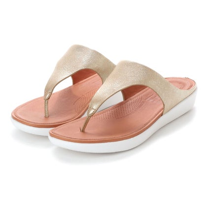 フィットフロップ fitflop BANDA II TOE-THONG SANDALS - METALLIC LEATHER (Metallic Gold)
