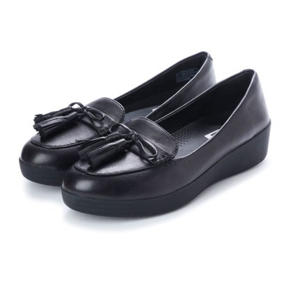 フィットフロップ FitFlop TASSEL BOW SNEAKERLOAFER (Black)