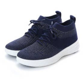 フィットフロップ FitFlop UBERKNIT SLIP-ON HIGH TOP SNEAKER (Midnight Navy/Pewter Metallic)