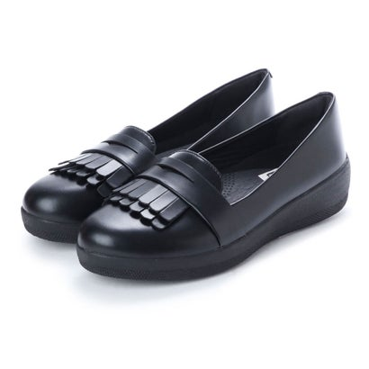 フィットフロップ FitFlop FRINGEY SNEAKERLOAFER (All Black)
