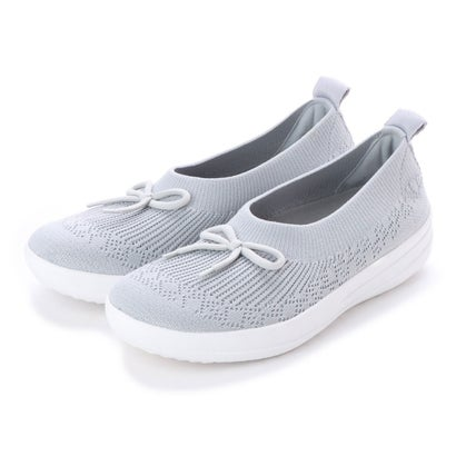 フィットフロップ FitFlop UBERKNIT SLIP-ON BALLERINA WITH BOW (Pearl)