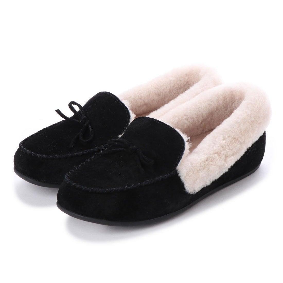 ca5cbe4ddb55 fitflop フィットフロップ FitFlop CLARA SHEARLING MOCCASIN (Black) -靴&ファッション通販  ロコンド〜自宅で試着、気軽に返品