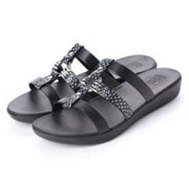 フィットフロップ fitflop HOOPLA SLIDE (Black/Snake)