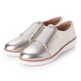 フィットフロップ fitflop LACELESS ELASTIC DERBY - SHEER METALLIC LEATHER (Silver)