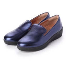 フィットフロップ fitflop AUDREY METALLIC SMOKING SLIPPERS (Midnight Navy)