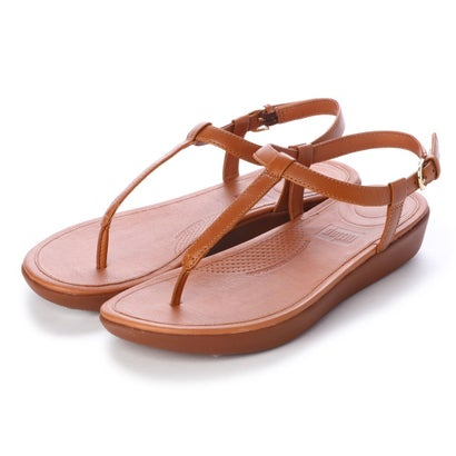 フィットフロップ fitflop TIA TOE-THONG SANDALS - LEATHER (Caramel)