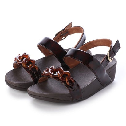 フィットフロップ fitflop LOTTIE TORTOISESHELL CHAIN (Chocolate Brown Turtle)