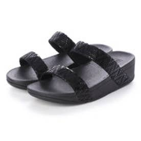 フィットフロップ fitflop LOTTIE CHEVRON SLIDE (Black)
