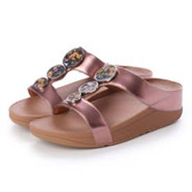 フィットフロップ fitflop HALO FLOWERCRUSH SLIDE (Rose Gold)