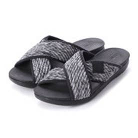 フィットフロップ fitflop ARTKNIT CROSS SLIDE (Black Mix)