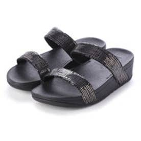 フィットフロップ fitflop LOTTIE CHAIN PRINT SLIDE (Black)