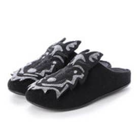 フィットフロップ fitflop WOLF SLIPPERS (All Black)