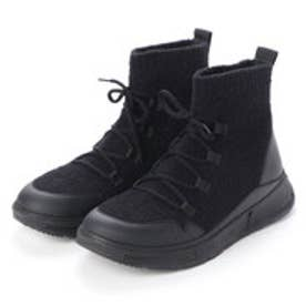 フィットフロップ fitflop COMFFKNIT SOCK BOOTS (All Black)