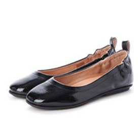 フィットフロップ fitflop ALLEGRO CRINKLE PATENT BALLERINAS (All Black)