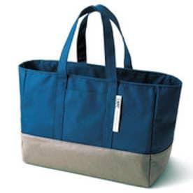 フェリシモサーカス FelissimoCircus 2層構造でなだれストップ きれいに持ち帰れる買い物バッグ (ネイビー)