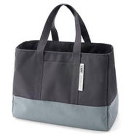 フェリシモサーカス FelissimoCircus 2層構造でなだれストップ きれいに持ち帰れる買い物バッグ (グレー)