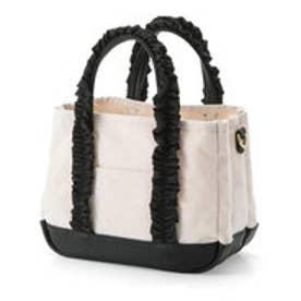 フェリシモサーカス FelissimoCircus 華カジュアルが私らしい 軽心地で仕分け上手な 帆布トートバッグ (ブラック)