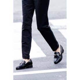 フェリシモサーカス FelissimoCircus ふわふわシャギーで足もと暖か きれいめレディーローファー (ブラック)