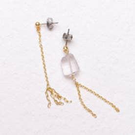 フェリシモサーカス FelissimoCircus 大地がはぐくんだ結晶 自然の美が宿る鉱物のピアス (アメジスト)【両耳】