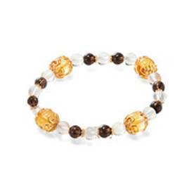 フェリシモサーカス FelissimoCircus 水晶と天然石に願いを込めた 京念珠のブレスレット (仕事への感謝)