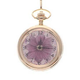 フェリシモサーカス FelissimoCircus ボタニカルアートを飾るように楽しむ 小粋な懐中時計 (サイネリア)