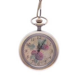 フェリシモサーカス FelissimoCircus ボタニカルアートを飾るように楽しむ 小粋な懐中時計 (木いちご)
