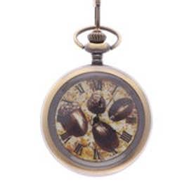 フェリシモサーカス FelissimoCircus ボタニカルアートを飾るように楽しむ 小粋な懐中時計 (どんぐり)