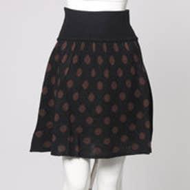 フェリシモサーカス FelissimoCircus ドットジャカードスカート (ブラック×ブラウン)