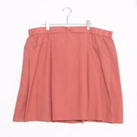 フェリシモサーカス FelissimoCircus 軽やか素材のサンゴ色スカート (オレンジ)