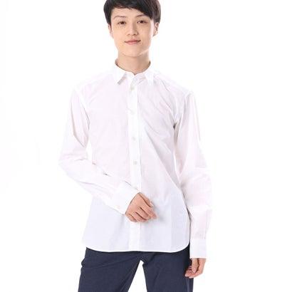 ファイン FINE 無地カラーコットンシャツ (オフホワイト)