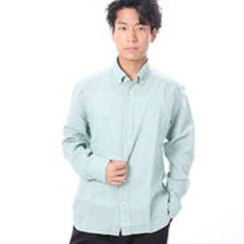 ファイン FINE 麻使用カジュアルシャツ (グリーン)