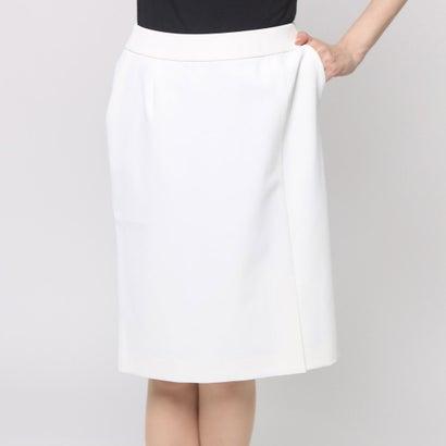 ファイン FINE 前スリットタイトスカート (オフホワイト)