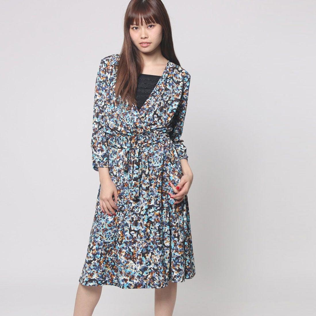 b690de0c460fd FINE (Rename) ファイン FINE カシュクール柄ワンピース (ブルー系)-Rename.jp - 服の新しい売り方