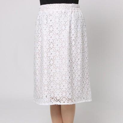 ファイン FINE 幾何学模様レーススカート (オフホワイト)