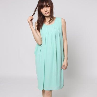 ファイン FINE 2WAYレース裾サック2枚重ねワンピースドレス (グリーン)