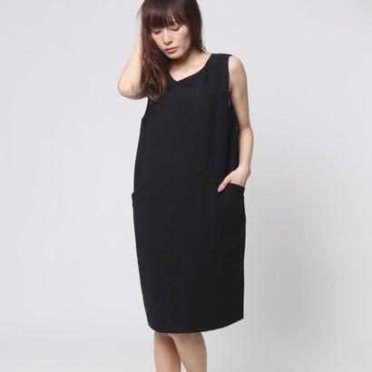 ファイン FINE ウール調ジャンパースカート (ブラック)