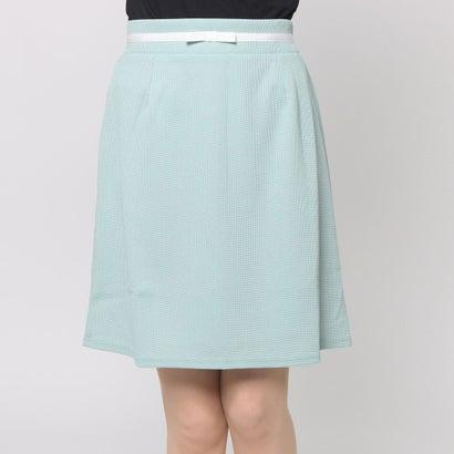 ファイン FINE リボン台形スカート (ミントグリーン)