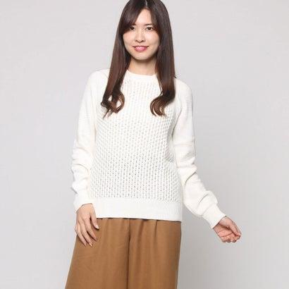 ファイン FINE 変わり編みセーター (オフホワイト)