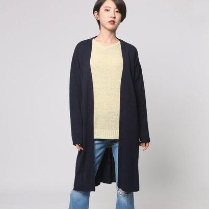 ファイン FINE ベルト付ミラノカーディガン (ネイビー)