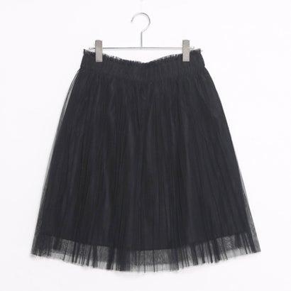 ファイン FINE チュールプリーツスカート (ブラック)