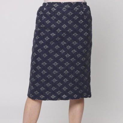 ファイン FINE 幾何レースタイトスカート (ブルー)