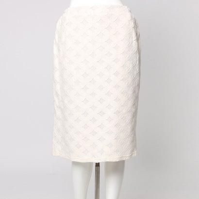 ファイン FINE 幾何レースタイトスカート (アイボリー)