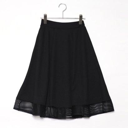 ファイン FINE (Rename) 裾レース切り替えフレアスカート (ブラック)